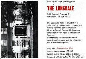 Photo of The Lonsdale Hotel London