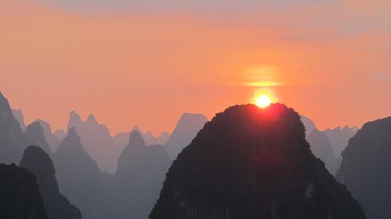 Guilin Laozhai Mountain: 日落