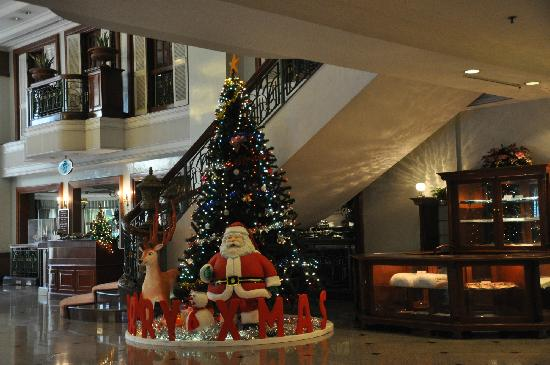 Evergreen Laurel Hotel: Christmas Tree in lobby