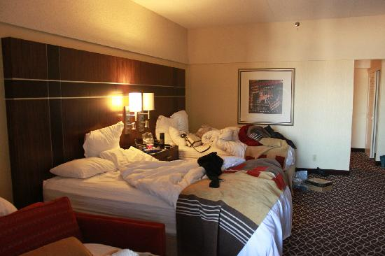 New York Marriott Marquis:                   relatively large for 2 people good noise-proof