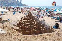 Sandy castle on the Levante beach