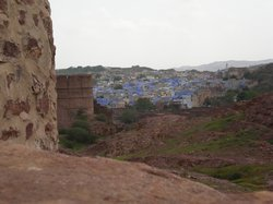 Looking out over the 'blue city' from Jodpur Fort (18436479)