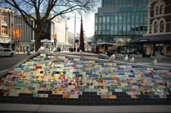 Christchurch outdoor mall, mosaic