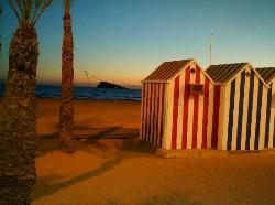levante beach at sunset