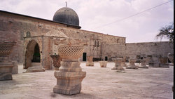 Crusader remains on the Temple Mount