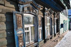 old wooden house in Irkutsk