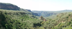 Magnificent scenery of the gorge