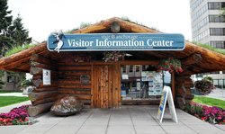 ‪Visit Anchorage Log Cabin Visitor Information Center‬