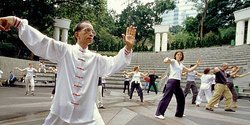 Tai Chi class - Hong Kong Tourism Board