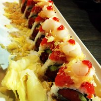 Orange Roll and Sushi