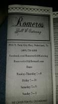 Romero's Grill and Catering