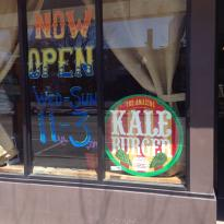 Amazing Kale Burger Lunch Counter