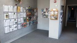 The interior of The Tomah Chamber & Visitors Center, boasting tons of information