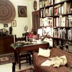  Books and old pewter. A nice place