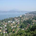  This is a view of Stresa taken from the funicular.
