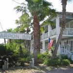 Just across the street from the busy port area, the inn has a very unassuming exterior.