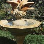 Water fountain on property