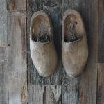 Traditional wooden clogs