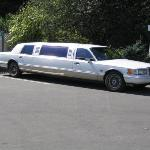 Here's the limo we rode in