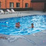 Courtyard heated pool - the water is very warm!