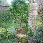 willow chair in the garden
