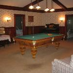 upstairs pool room