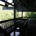 The lodge deck