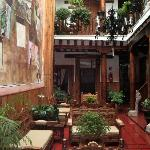 Our cozy room overlooked this charming courtyard