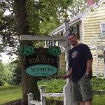 Stu in front of the Manor
