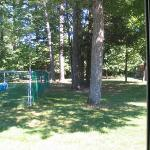 A view outside my sliding door.  Very peaceful.  The edge of the pool is on the left.