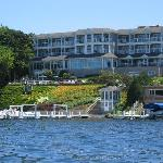 The hotel from our rent a boat