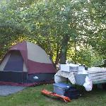 This is a very typical campsite at the park. The campground is neat and well cared for.