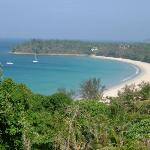 Kata beach from our hotel balcony