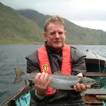 David with a Salmon / Grilse