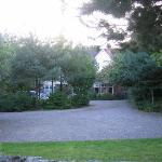  View of the front of the house behind trees
