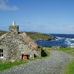 Cottages and the Atlantic sea beyond