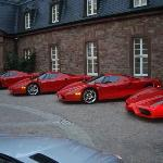What was parked outside of the front entrance. But they treated everyone great, ferraris or no.