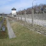 Dachau Concentration Camp fence once electrified to prevent prisoner escape
