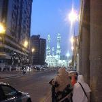 Walk from the hotel to Haram