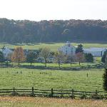 The Eisenhower Farm as seen from the Gettysburg Battlefield.