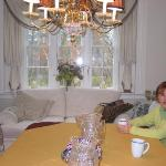  Enjoying coffee in the Dining Room