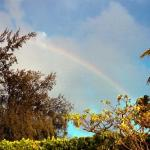 Our own rainbow over Hale Hoku