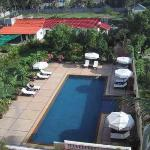 View of Princess Angkor Hotel pool