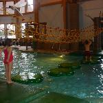 Lily pad and rope climb