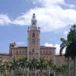 Front View of the Biltmore Hotel in Coral Gables, Florida, USA