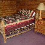 Jiggly - but romantic - bed at Signal Mtn cabin