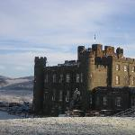 Stobo Castle, snowy at Christmas