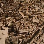 Detail of the model that shows Hannover after the WWII bombings