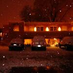  The Casa Pueblo Inn one snowy night