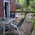 private deck for downstairs rooms